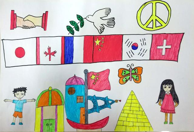 素描善于和平海报
