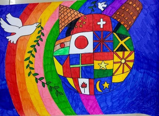 世界和平儿童海报