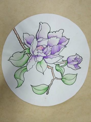 儿童盘子装饰画作品